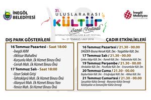 31. Uluslararası Kültür Sanat Festivali Dışpark Gösterileri