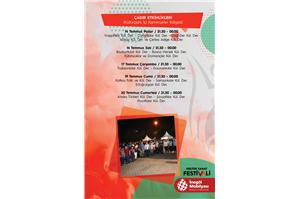 İnegöl Belediyesi 32. Uluslararası Kültür Sanat Festivali Çadır Etkinlikleri