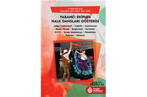 İnegöl Belediyesi 32. Uluslararası Kültür Sanat Festivali Yabancı Ekipler Halk Dansları Gösterisi